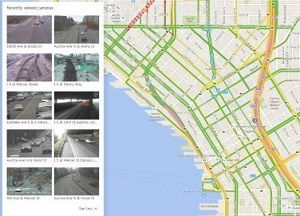 Traffic cameras on Bing maps