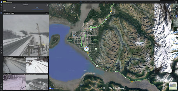 Vizzion's traffic cameras in Alaska integrated into PDC's DisasterAWARE platform